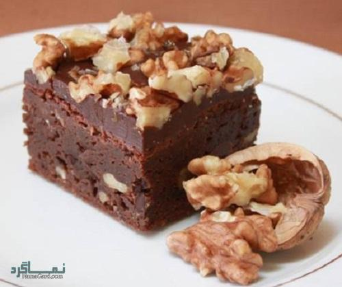 طرز تهیه کیک گردویی خوش طعم + تزیین
