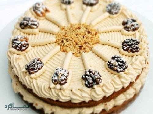 طرز تهیه کیک گردویی خوش طعم + فیلم آموزشی