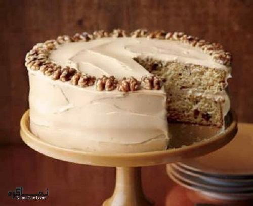 طرز تهیه کیک گردویی خوشمزه + فیلم آموزشی