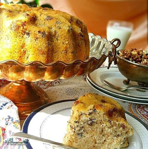 طرز تهیه کیک گردویی خوش طعم