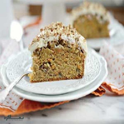 طرز تهیه کیک گردویی مجلسی + تزیین