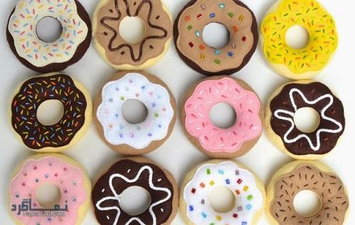طرز تهیه شیرینی دونات مجلسی + فیلم آموزشی