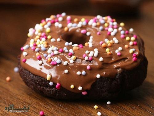 طرز تهیه شیرینی دونات خوشمزه + فیلم آموزشی