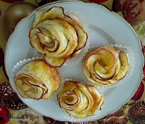 طرز تهیه شیرینی گل رز شیک