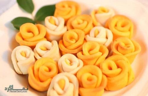 شیرینی گل رز + تزیین