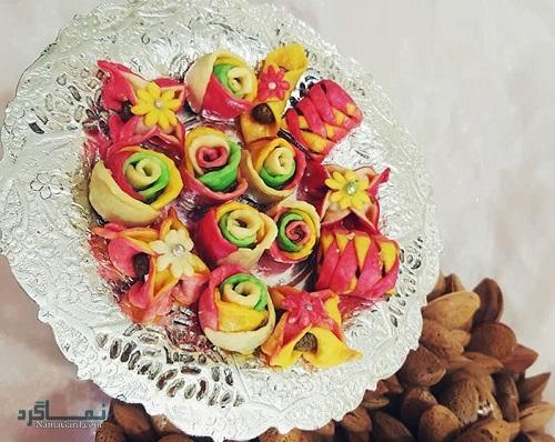 طرز تهیه شیرینی گل رز خوشمزه + فیلم آموزشی
