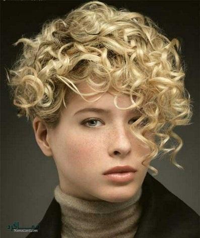 مدل موی کوتاه برای موهای فر