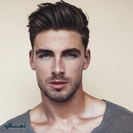 مدل موی کوتاهمردانه برای صورت کشیده و لاغر