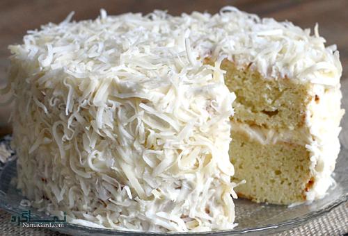 کیک نارگیل خانگی