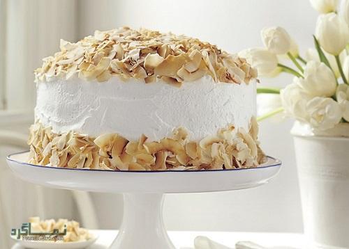 طرز تهیه کیک نارگیل خوشمزه + تزیین