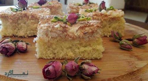 کیک نارگیل خوشمزه + تزیین
