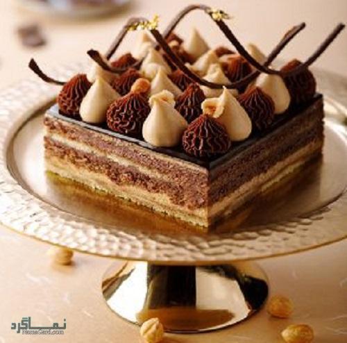 طرز تهیه کیک فندق خوشمزه + تزیین