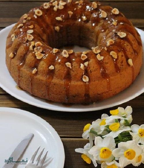 کیک فندق خوشمزه + تزیین