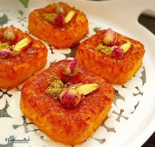 طرز تهیه کیک خاگینه خوشمزه + تزیین