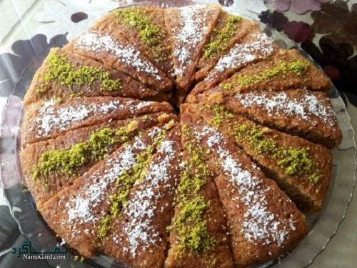 مراحل روش تهیه کیک خاگینه ساده + تزیین