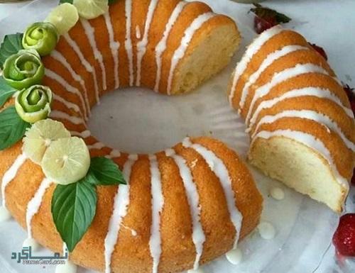 دستور پخت کیک لیمویی مجلسی + تزیین