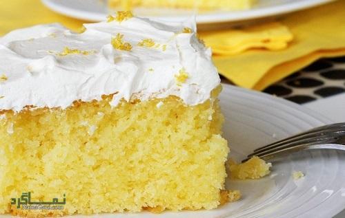 نحوه پخت کیک لیمویی خوشمزه + تزیین