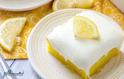 طرز تهیه کیک لیمویی خوش طعم + تزیین