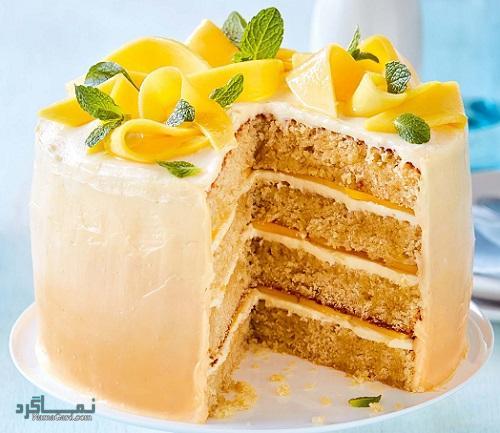 طرز تهیه کیک انبه خوشمزه