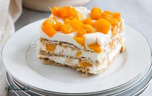 طرز تهیه کیک انبه خوشمزه + تزیین