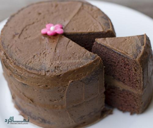 طرز پخت کیک موکا مجلسی + فیلم آموزشی