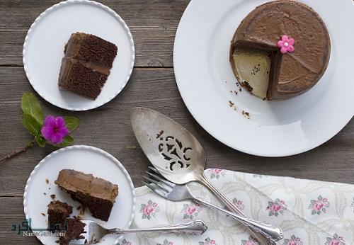 کیک موکا + تزیین