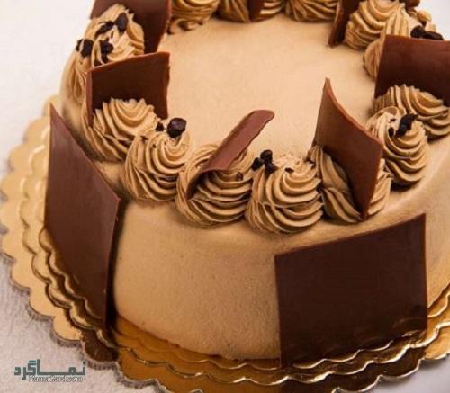 کیک موکا خوشمزه + تزیین