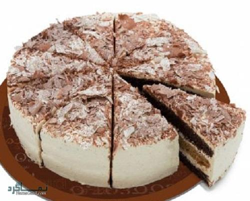 مراحل روش پخت کیک موکا خوش طعم + تزیین