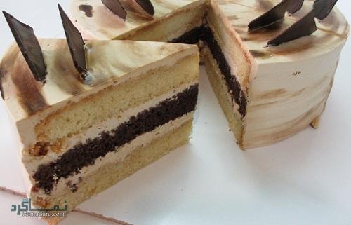 مراحل روش پخت کیک موکا خوش طعم