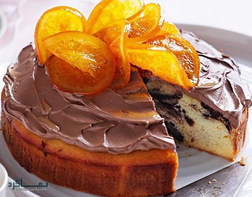 دستور پخت کیک پرتقال شیک
