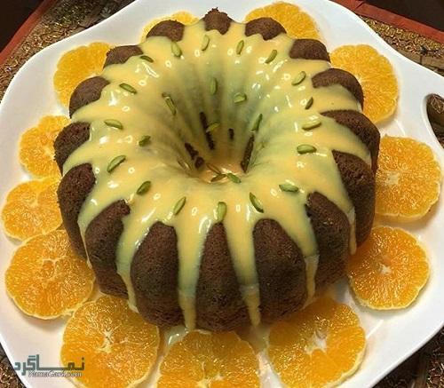 کیک پرتقال خوشمزه