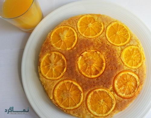 دستور پخت کیک پرتقال شیک + فیلم آموزشی