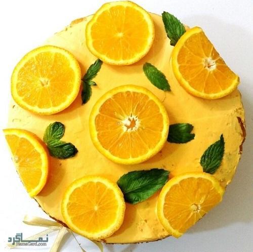 کیک پرتقال شیک