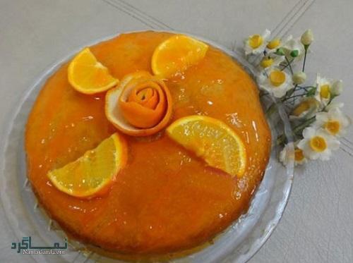 دستور پخت کیک پرتقال خوش عطر + تزیین