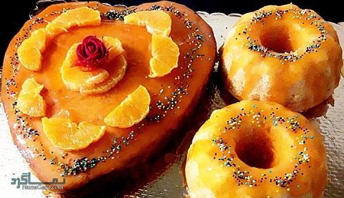 کیک پرتقال خوش عطر + تزیین