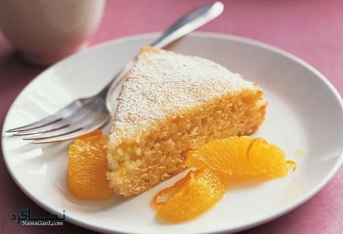کیک پرتقال شیک + تزیین