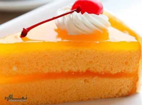طرز تهیه کیک پرتقال خوشمزه + تزیین
