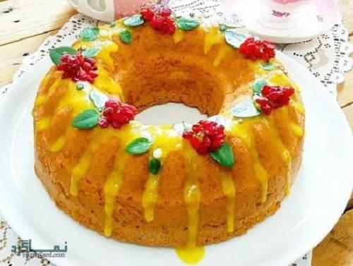 مراحل دستور پخت کیک پرتقال خوش عطر