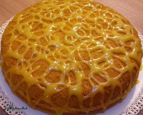 کیک پرتقال + تزیین