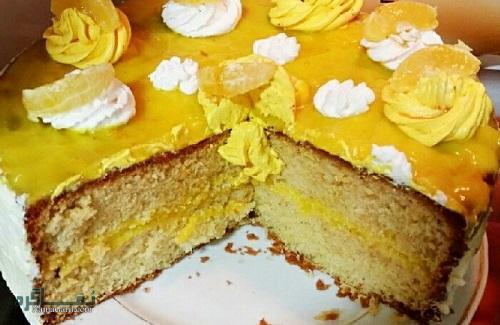 دستور پخت کیک پرتقال شیک + تزیین
