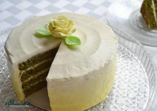 کیک نعناع خوش عطر + تزیین