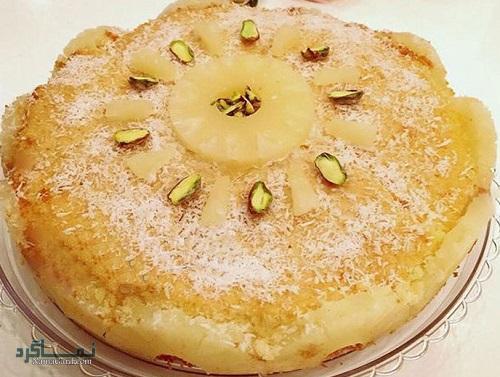 کیک آناناس | طرز تهیه کیک آناناس خوشمزه + فیلم آموزشی