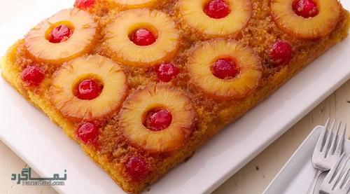 روش پخت کیک آناناس لذیذ + فیلم آموزشی