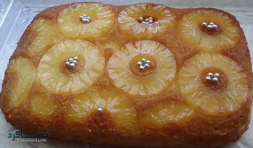کیک آناناس لذیذ + تزیین