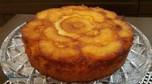 کیک آناناس لذیذ + فیلم آموزشی