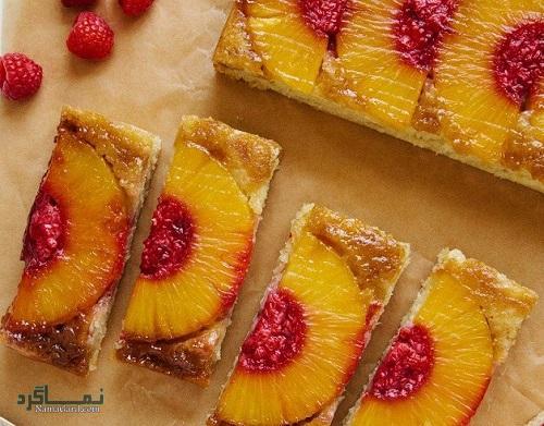 نحوه پخت کیک آناناس شیک