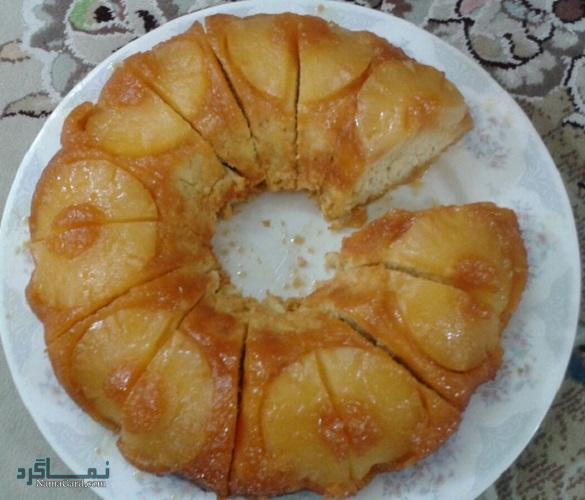 نحوه پخت کیک آناناس شیک + فیلم آموزشی