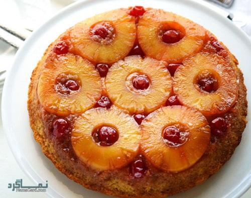 نحوه پخت کیک آناناس شیک + تزیین