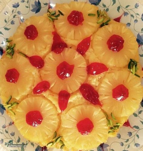 مراحل روش پخت کیک آناناس لذیذ