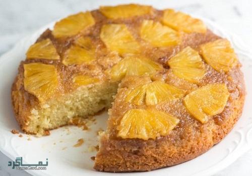 طرز تهیه کیک آناناس خوشمزه + تزیین